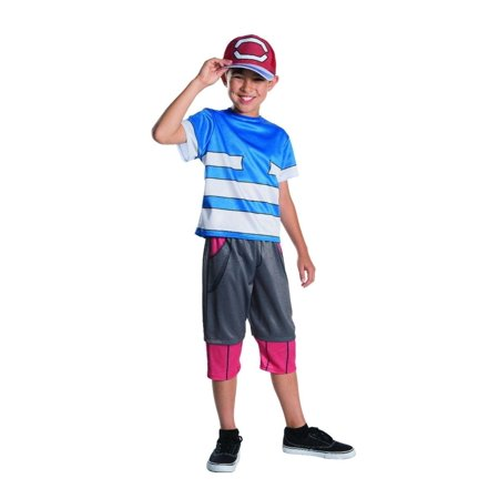Pokemon Ash Sacha Childs size M 8/10 Licensed Costume Outfit (Ash Ketchum Costume Men's)