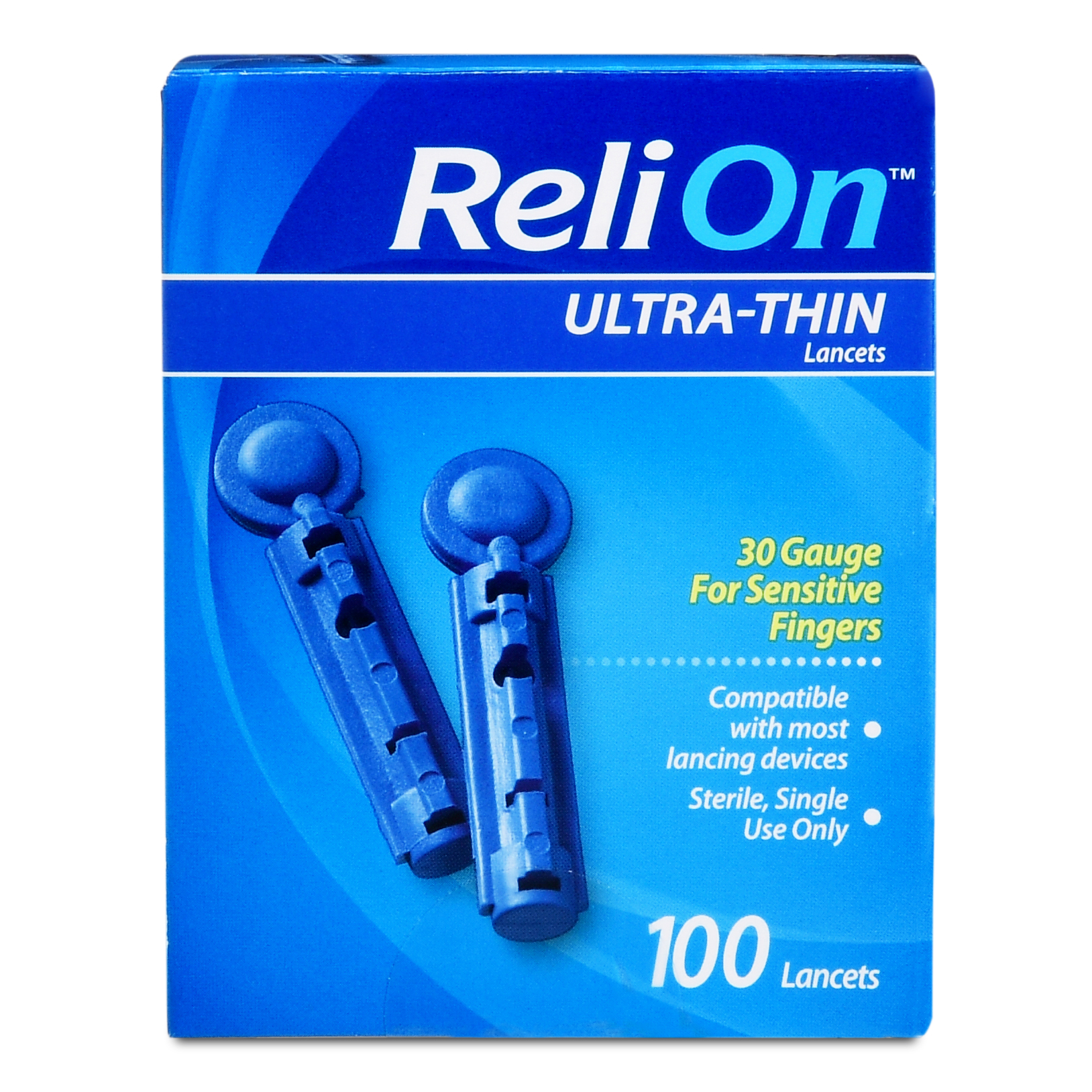ReliOn 30 Gauge Ultra Thin Lancets, 100 Ct