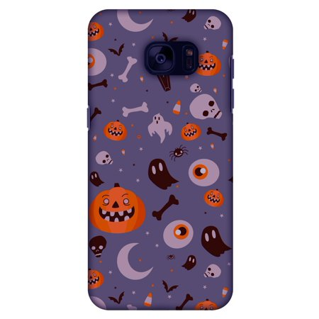Samsung GALAXY S7 Case, Premium Handcrafted Printed Halloween Designer Hard ShockProof Case Back Cover for Samsung GALAXY S7 SM-G930F - Freaky Grey