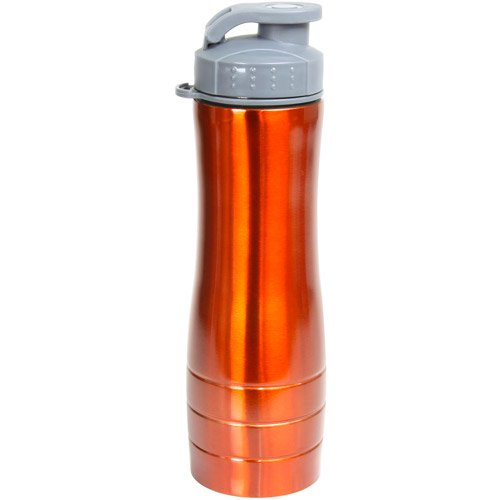 Sportline 25oz Stainless Steel Water Bottle, Orange and Red