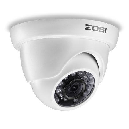 ZOSI 1080P 4-in-1 TVI/CVI/AHD/CVBS Security Cameras 24PCS IR Leds 3.6mm lens Outdoor Indoor Day Night w/ Dome Surveillance CCTV Camera (Video Camera Security W Speaker)