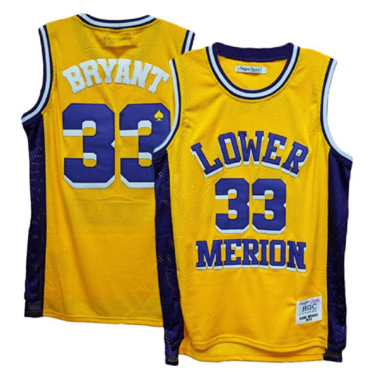 Headgear - Lower Merion Aces Kobe Bryant Gold/Purple High School Jersey (3X) - Walmart.com