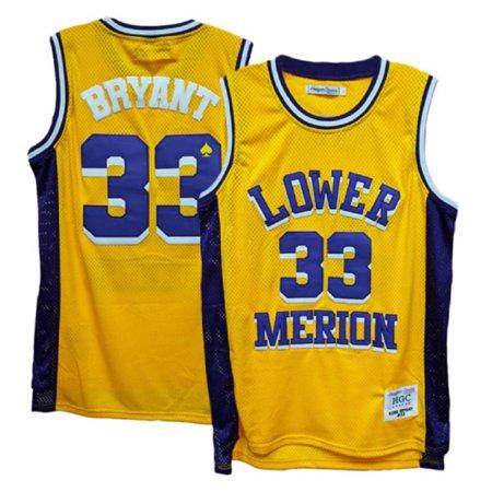 Lower Merion Aces Kobe Bryant Gold/Purple High School Jersey (4X)