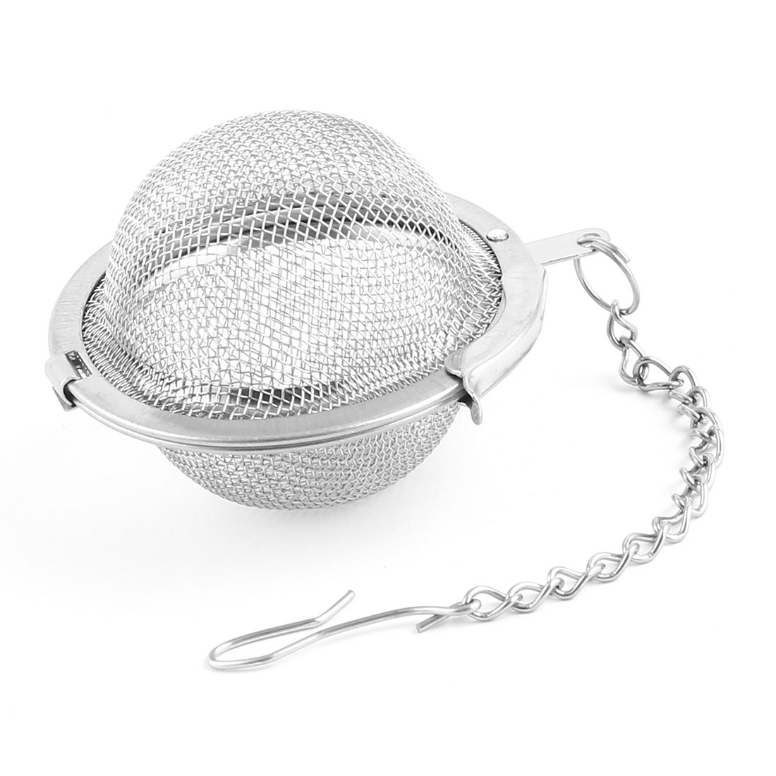 Family 4.5cm Dia Stainless Steel Locking Chain Cooking Infuser Mesh Tea Ball Strainer by