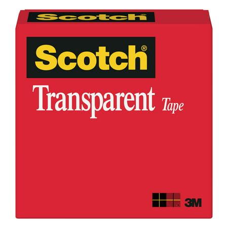 3M #600 Transparent Cellophane Tape, 1