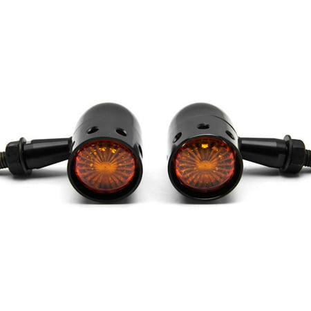 2pcs Black Motorcycle Turn Signals Blinkers Lights For Harley Davidson Dyna Glide Wide Glide FXDWG FXWG - image 5 de 6