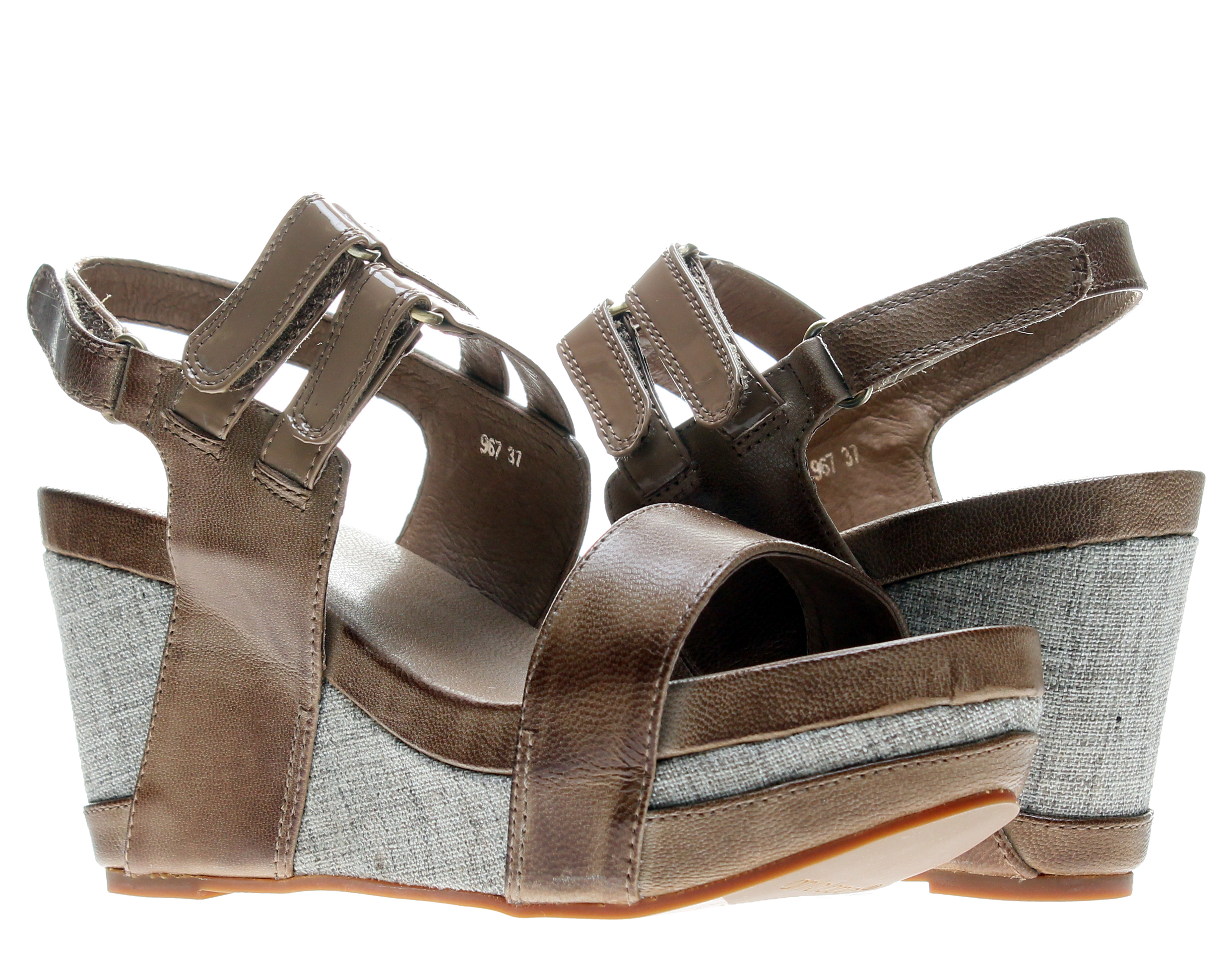 Antelope 967 Slingback Taupe Women's Wedge Sandals 967-TAUPE