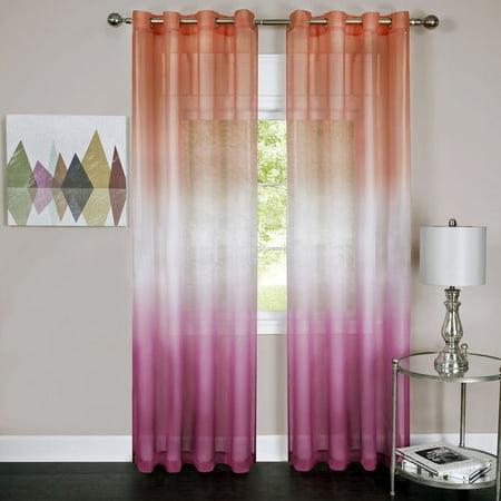 Achim Rainbow Ombre Single Grommet Window Curtain