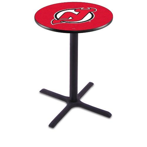 NHL Pub Table by Holland Bar Stool, Black - New Jersey Devils, 42'' - L211