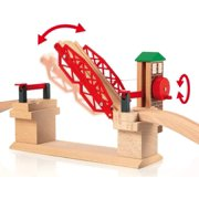 Brio 33757 Lifting Bridge | Toy Train Accessory with Wooden Track for Kids Age 3 and Up & World 33402 Expansion Pack Intermediate | Wooden Train Tracks for Kids Age 3 and Up