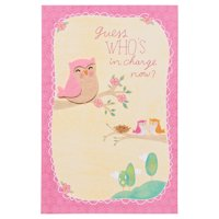 American Greetings Who's In Charge Now New Baby Congratulations Card