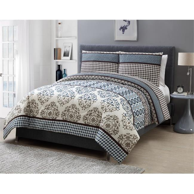 Luxury Home Lee Comforter Set, Full - 3 Piece Set