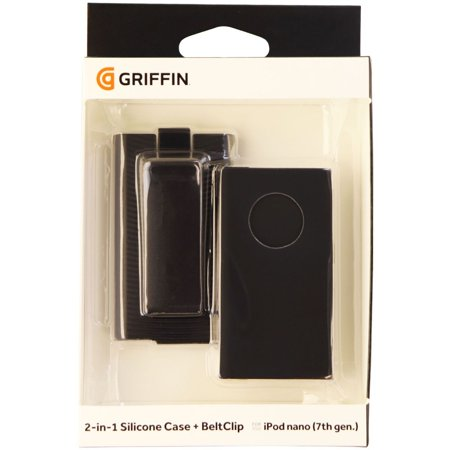 Griffin 2 in 1 Silicone Case with Belt Clip Holster for iPod Nano 7 & 8 - Black - image 3 of 3