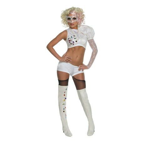 Lady Gaga VMA White Performance Outfit Rubies 889960, Extra Small