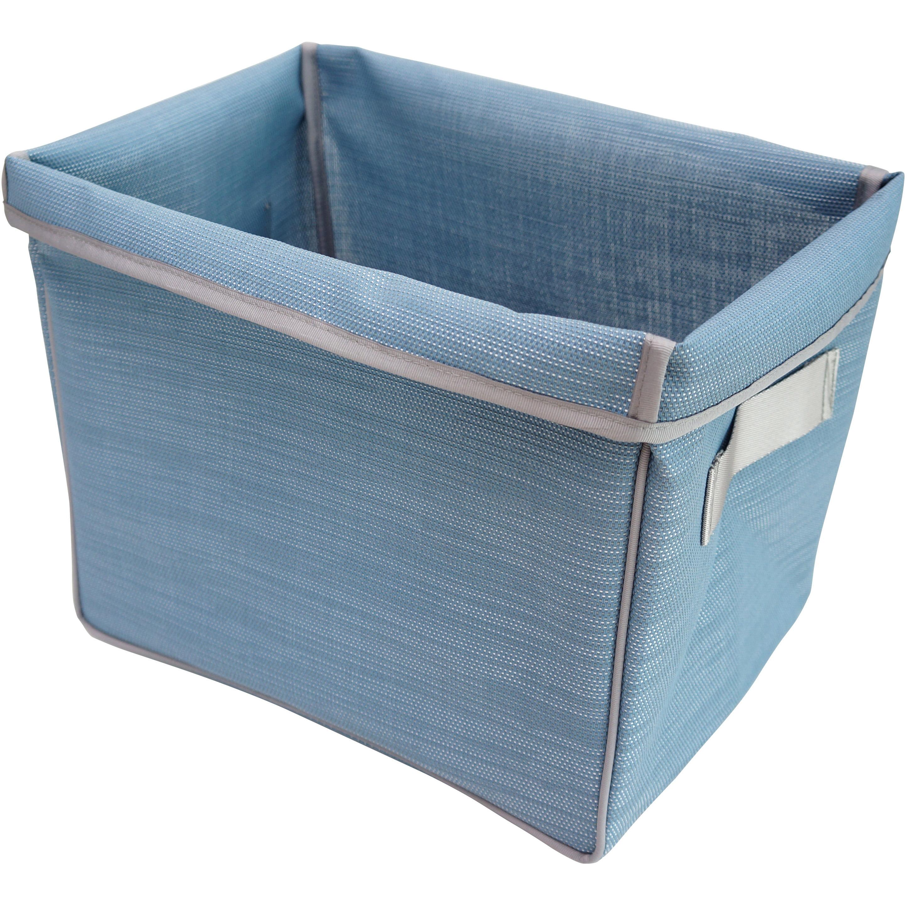 Pivoine Foldable Storage Basket, Faded Denim
