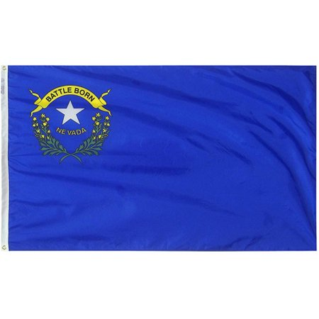 Nevada State Flag, 3' x 5', Nylon SolarGuard Nyl-Glo, Model# 143360