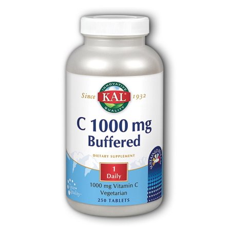 Vitamin C-1000mg Buffered & Timed Release Kal 250 Sustained Release (Time Release 250 Tablets)