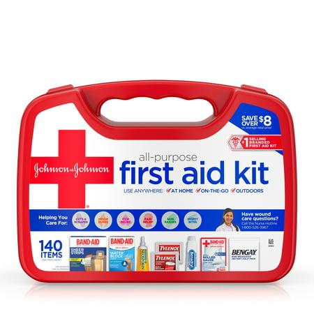 Johnson & Johnson All-Purpose Portable Compact First Aid Kit - 140pc