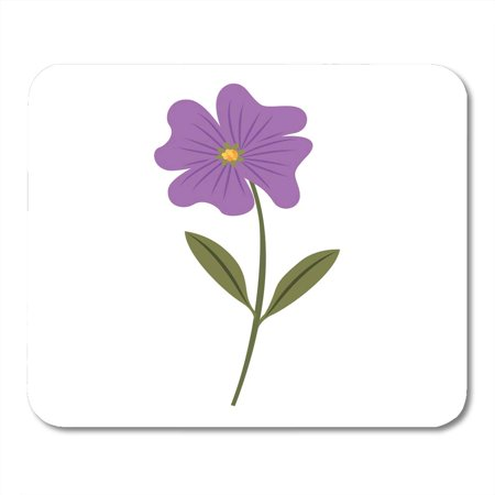 SIDONKU Botany Beautiful Cute Flower Periwinkle Petals Leaves Stem Blossom Bouquet Mousepad Mouse Pad Mouse Mat 9x10 inch