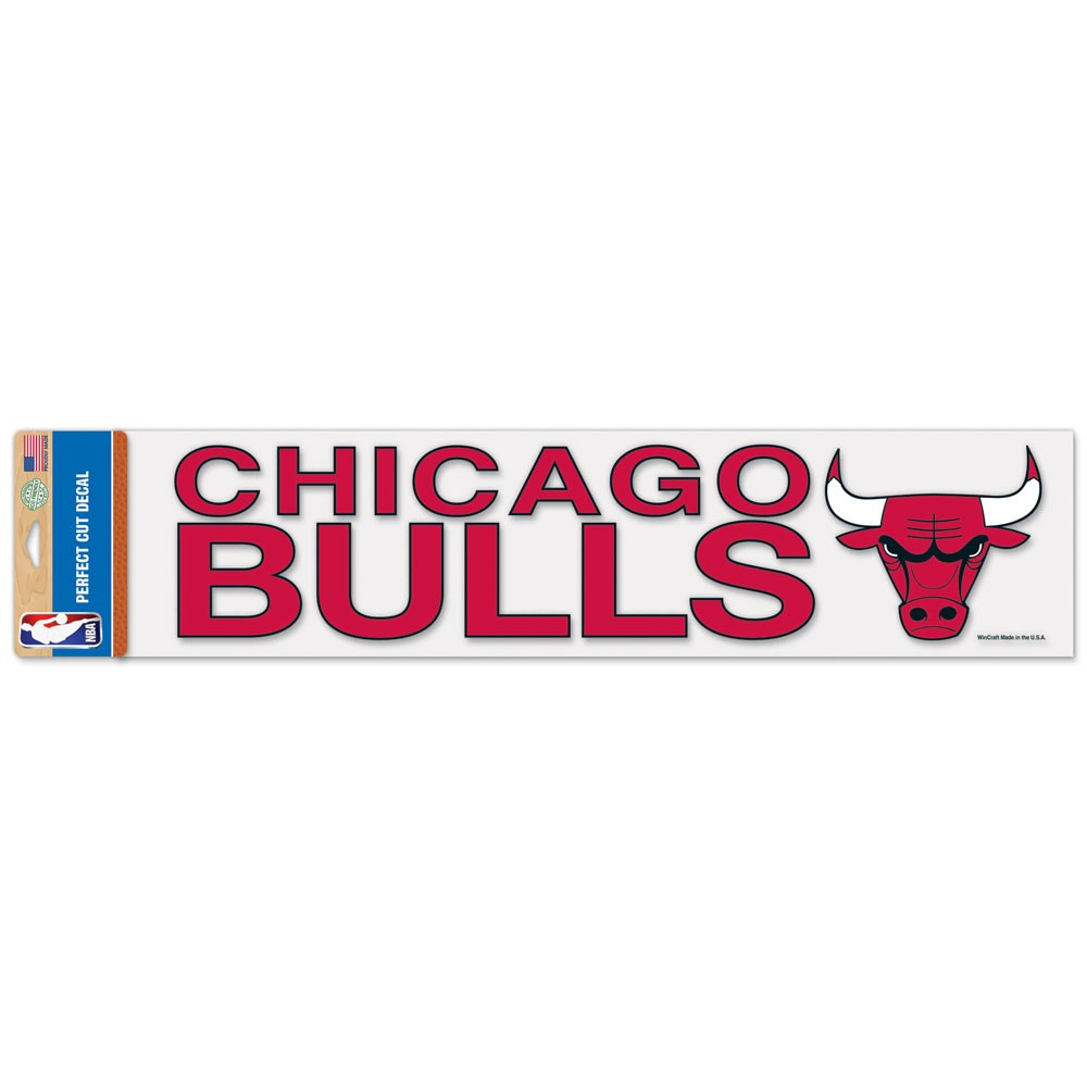 Chicago Bulls Official NBA 4 inch x 17 inch  Die Cut Car Decal by WinCraft