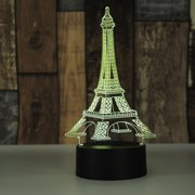 3D Eiffel Tower Nightlight Desk Bedroom Decoration LED Lamp Fashion Style Acrylic Touch Light Decoration Gift