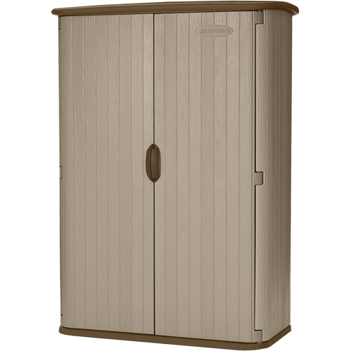 Suncast 52 cu. ft. Resin Vertical Storage Shed, Taupe, BMS4500