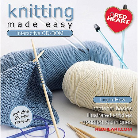 Coats and Clark Red Heart Knitting Made Easy Interactive CD-ROM
