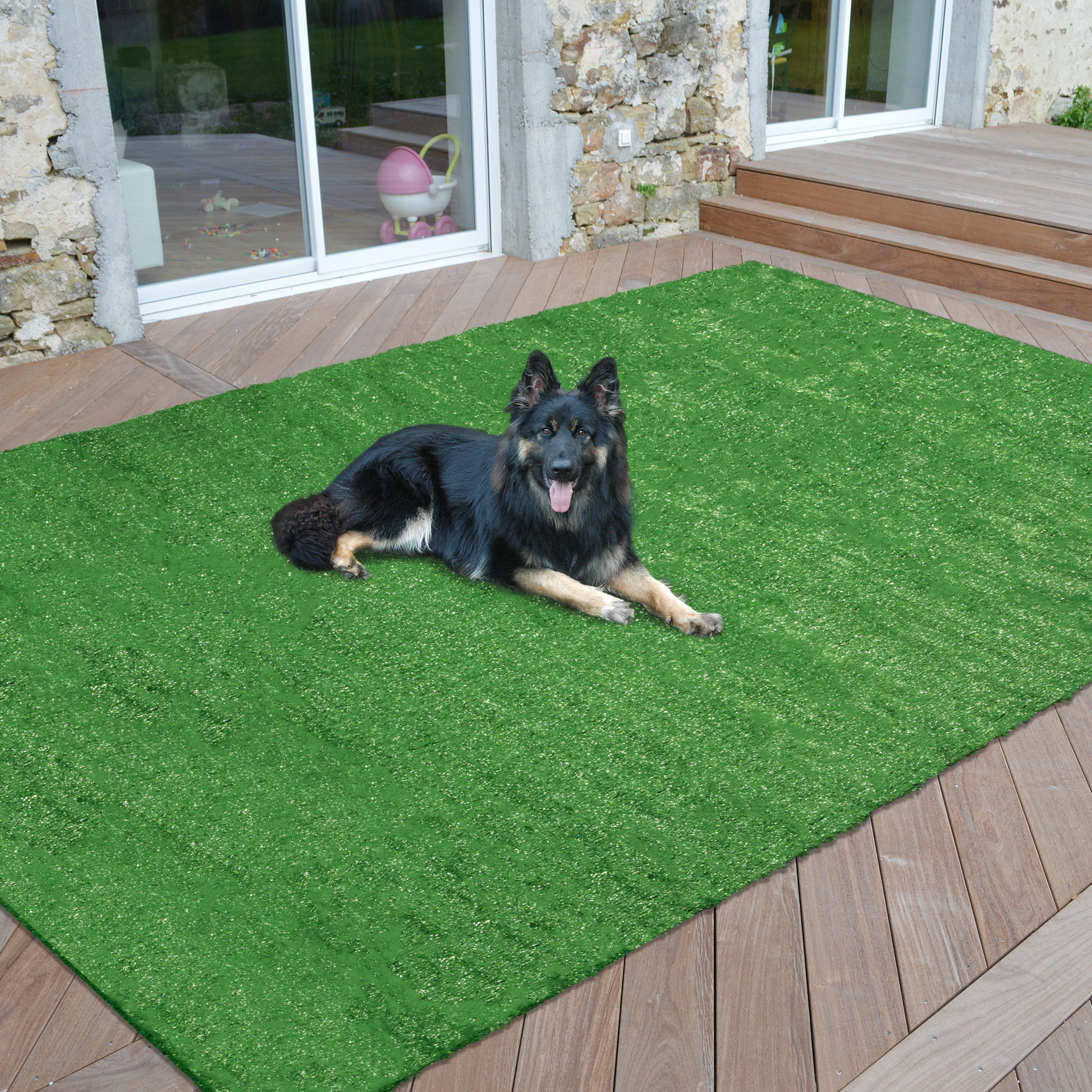 Sweet Home Meadowland Artificial Grass Indoor/Outdoor Area Rug