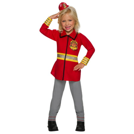 Girls Barbie Firefighter Halloween Costume](Dead Barbie Makeup For Halloween)