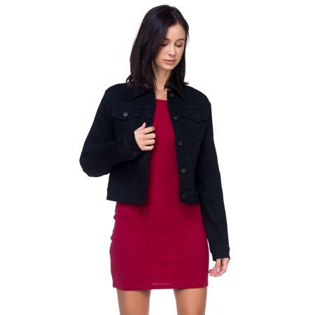 OFASHIONUSA Women's Woven Denim Jacket With Buttons ()
