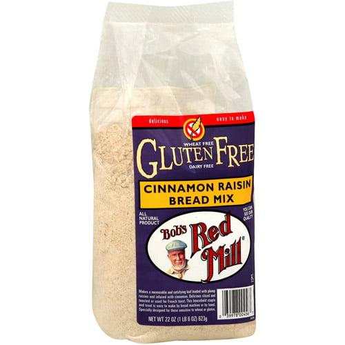 Bob's Red Mill Gluten Free Cinnamon Raisin Bread Mix, 22 oz (Pack of 4)