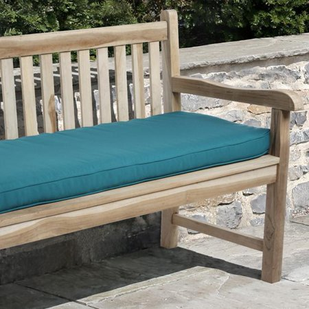 Mozaic Clara 60 Inch Indoor Outdoor Teal Blue Bench Cushion Made With Sunbrella