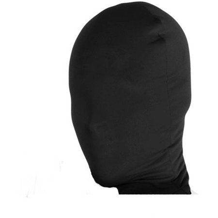 2nd Skin Full Hood Costume Face Mask Adult: Black One Size - Black Face Mask Costume