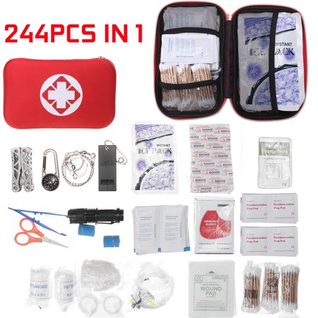101/178/244PCS Outdoor All-Purpose Emergency Survival First Aid Kit Home Travel Rescue Bag Fabric Case Perfect for family use and emergency thumbnail