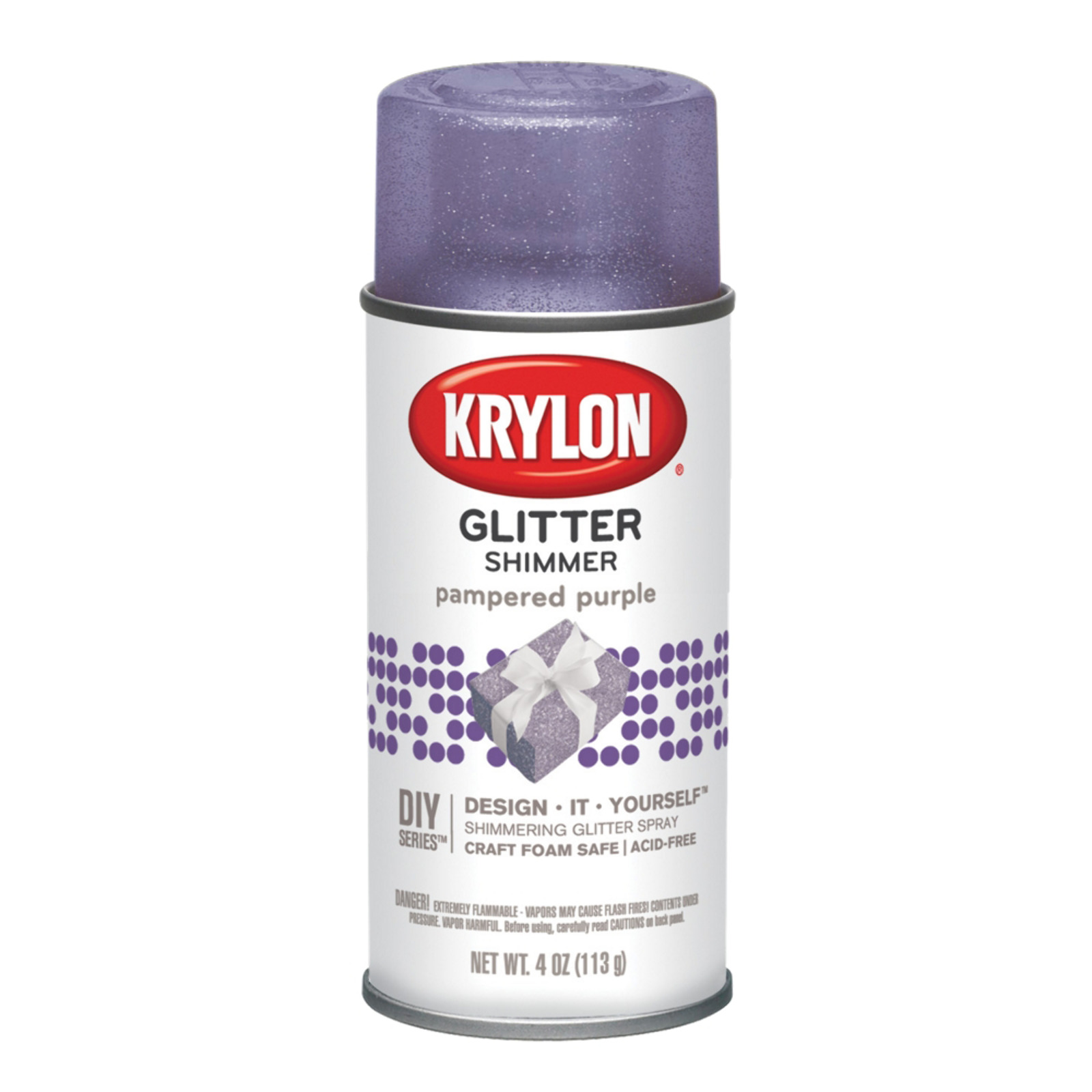 Krylon Glitter Shimmer Spray Paint, 4 oz., Purple