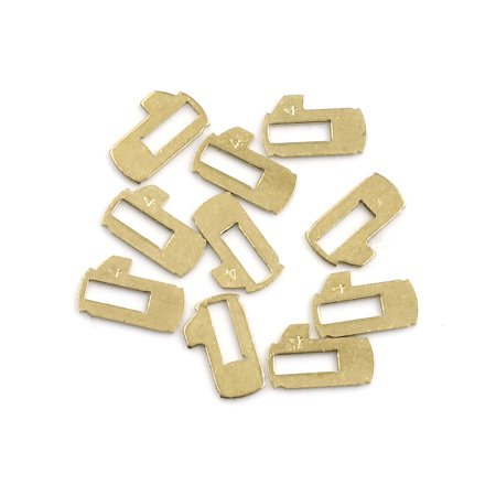 10pcs Gold Tone Car Ignition Lock Cylinder Reed Plate Repair Tools for Nissan - image 2 of 2
