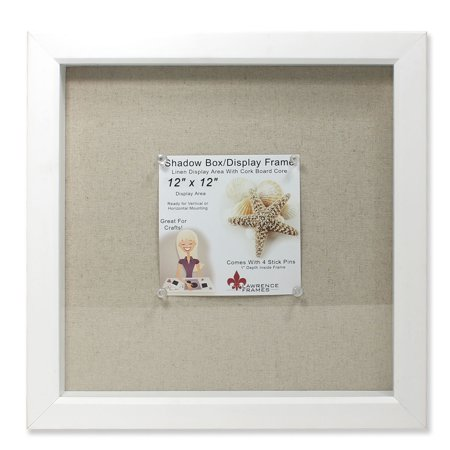 12x12 White Shadow Box Frame - Linen Inner Display Board