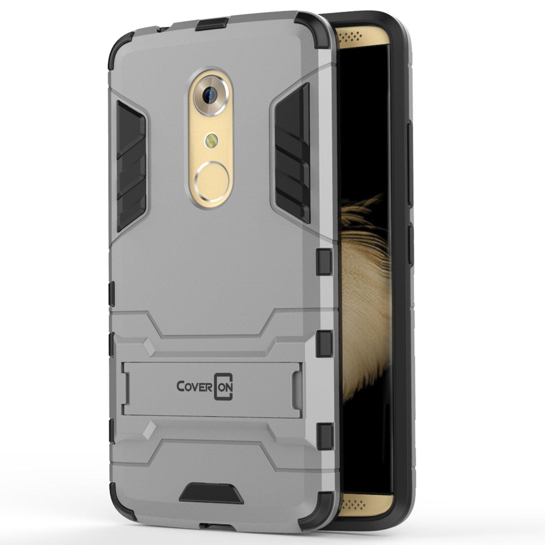 new concept 9b2c8 bcd07 CoverON ZTE Axon 7 Mini Case, Shadow Armor Series Hybrid Kickstand Phone  Cover