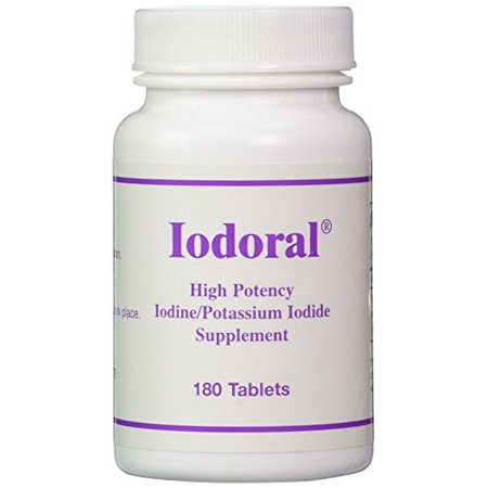 Optimox Iodoral High Potency Iodine Potassium Iodide Thyroid Support Supplement 180 (Iodine Potassium)