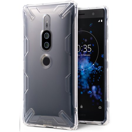 Xperia XZ2 Premium Case, Ringke [Air-X] Lightweight Transparent TPU Protective Case Scratch Resistant Supports QI Wireless Charging Sturdy Cover for Sony Xperia XZ2 Premium - Clear