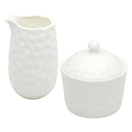 Red Vanilla Vanilla Marble Covered Sugar Bowl And Creamer Set