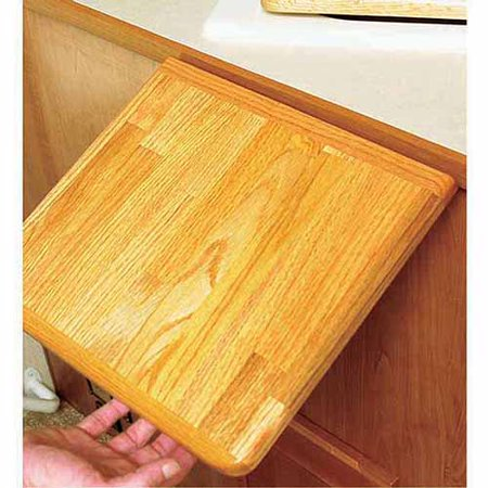 Camco Oak Accents RV Counter Top Extension - Securely Mounts to Your Existing Counter Top With a Metal Piano Hinge for Additional 12
