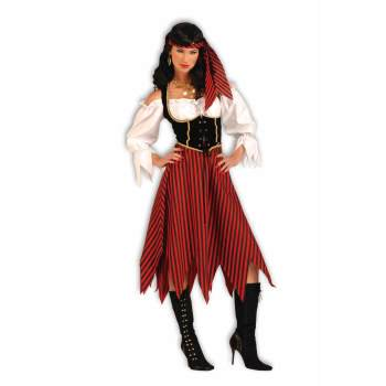 Pirate maiden women's adult halloween costume M](Female Pirate Costume Makeup)