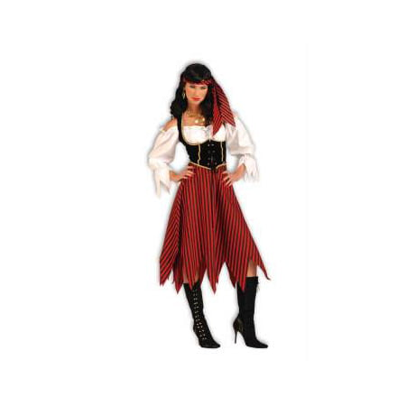 Pirate maiden women's adult halloween costume - Red Linen Pirate