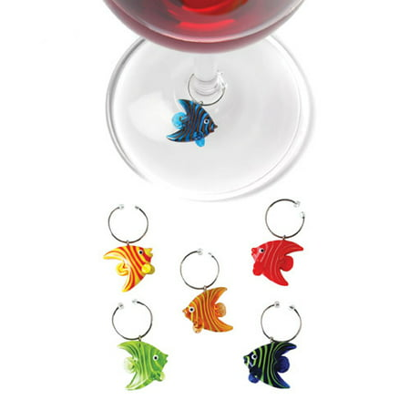 Angelfishâ ¢: Glass Wine Charms