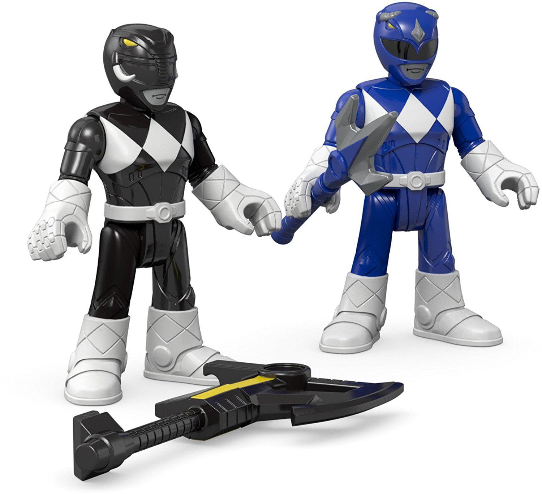 Fisher Price IMaginext Power Rangers Blue Ranger & Black Ranger Figures, Go Go Power... by