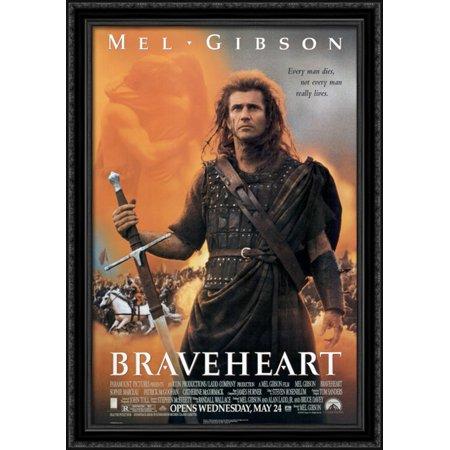 Braveheart 28x40 Large Black Ornate Wood Framed Canvas Movie Poster Art