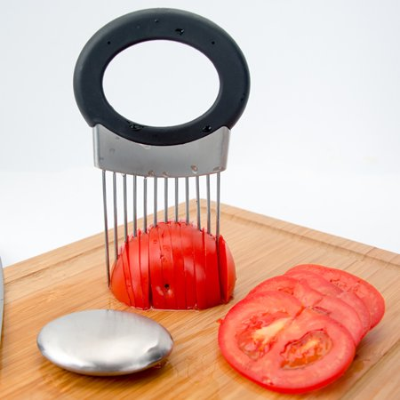 GLiving The Best Onion Holder for Slicing All-In-One | Potato holder | Odor Remover | Vegetable Slicer | Onion Chopper Stainless