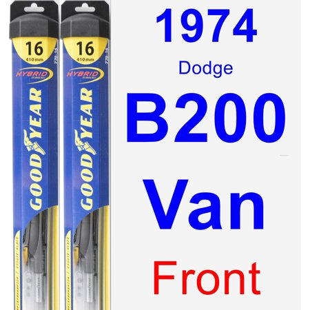 - 1974 Dodge B200 Van Wiper Blade Set/Kit (Front) (2 Blades) - Hybrid
