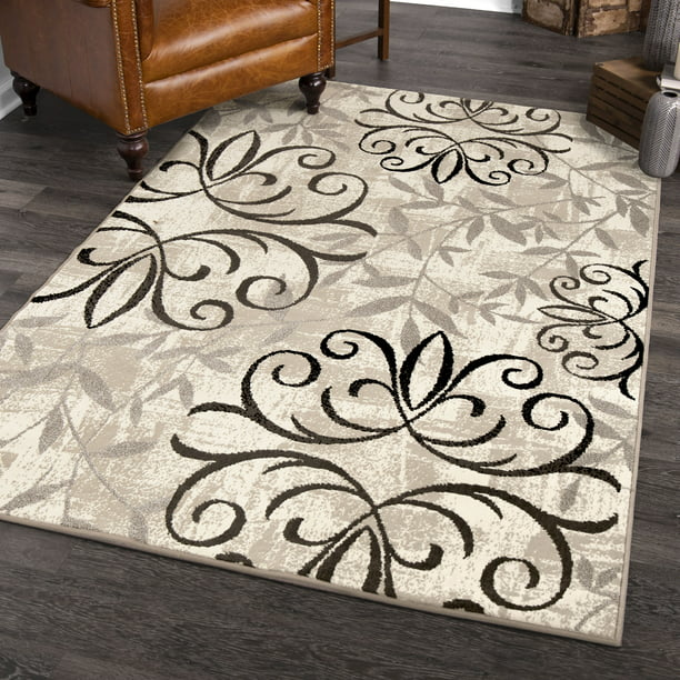 Gardens Iron Fleur Area Rug or Runner